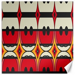 Rhombus Ovals And Stripes 			canvas 16  X 16