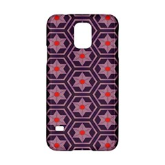 Flowers And Honeycomb Pattern			samsung Galaxy S5 Hardshell Case by LalyLauraFLM