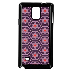 Flowers And Honeycomb Pattern			samsung Galaxy Note 4 Case (black) by LalyLauraFLM
