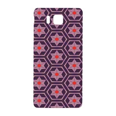 Flowers And Honeycomb Pattern			samsung Galaxy Alpha Hardshell Back Case by LalyLauraFLM