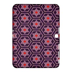 Flowers And Honeycomb Pattern			samsung Galaxy Tab 4 (10 1 ) Hardshell Case by LalyLauraFLM