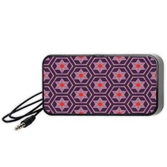 Flowers And Honeycomb Pattern Portable Speaker by LalyLauraFLM