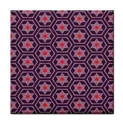 Flowers And Honeycomb Pattern 			tile Coaster by LalyLauraFLM