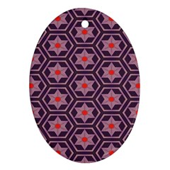 Flowers And Honeycomb Pattern 			ornament (oval) by LalyLauraFLM