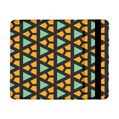 Green Triangles And Other Shapes Pattern			samsung Galaxy Tab Pro 8 4  Flip Case by LalyLauraFLM