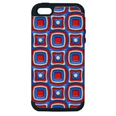 3d Squares			apple Iphone 5 Hardshell Case (pc+silicone) by LalyLauraFLM