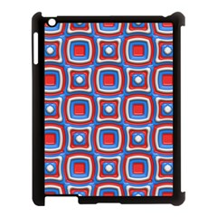 3d Squares			apple Ipad 3/4 Case (black) by LalyLauraFLM