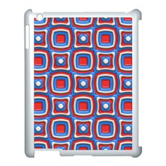 3d Squares			apple Ipad 3/4 Case (white) by LalyLauraFLM