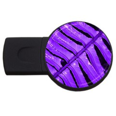 Purple Fern Usb Flash Drive Round (2 Gb)  by timelessartoncanvas