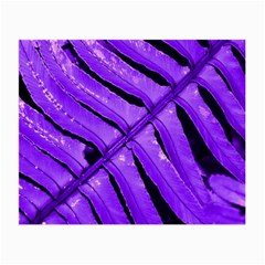 Purple Fern Small Glasses Cloth by timelessartoncanvas