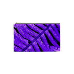 Purple Fern Cosmetic Bag (small)  by timelessartoncanvas
