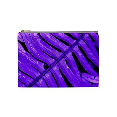 Purple Fern Cosmetic Bag (medium)  by timelessartoncanvas