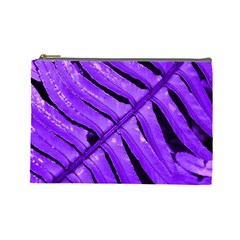 Purple Fern Cosmetic Bag (large)  by timelessartoncanvas
