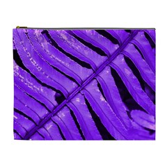 Purple Fern Cosmetic Bag (xl) by timelessartoncanvas