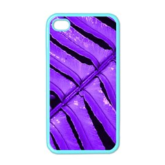 Purple Fern Apple Iphone 4 Case (color)