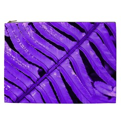 Purple Fern Cosmetic Bag (xxl)  by timelessartoncanvas