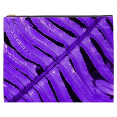 Purple Fern Cosmetic Bag (xxxl)  by timelessartoncanvas