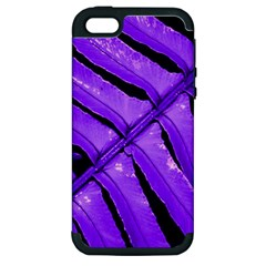 Purple Fern Apple Iphone 5 Hardshell Case (pc+silicone) by timelessartoncanvas