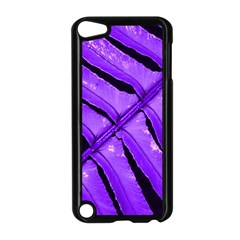 Purple Fern Apple Ipod Touch 5 Case (black) by timelessartoncanvas