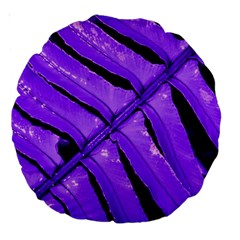 Purple Fern Large 18  Premium Round Cushions by timelessartoncanvas
