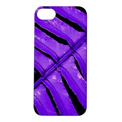 Purple Fern Apple Iphone 5s Hardshell Case by timelessartoncanvas