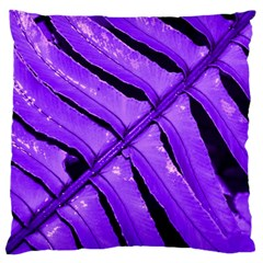 Purple Fern Standard Flano Cushion Cases (two Sides)  by timelessartoncanvas