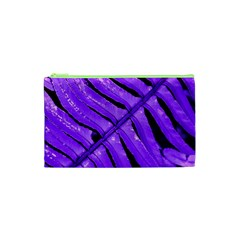 Purple Fern Cosmetic Bag (xs) by timelessartoncanvas