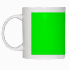 Cool Green White Mugs by Costasonlineshop