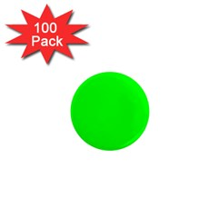 Cool Green 1  Mini Magnets (100 Pack)  by Costasonlineshop