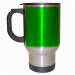 Cool Green Travel Mug (Silver Gray) Left