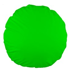 Cool Green Large 18  Premium Round Cushions by Costasonlineshop