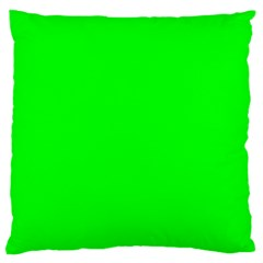 Cool Green Large Flano Cushion Cases (two Sides)