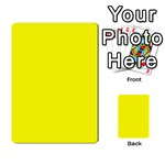 Beautiful Yellow Multi-purpose Cards (Rectangle)  Back 18