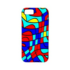Colorful Bent Shapes			apple Iphone 5 Classic Hardshell Case (pc+silicone) by LalyLauraFLM