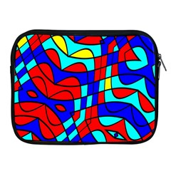 Colorful Bent Shapes			apple Ipad 2/3/4 Zipper Case by LalyLauraFLM