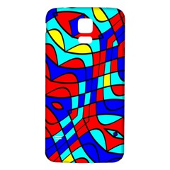 Colorful Bent Shapes			samsung Galaxy S5 Back Case (white) by LalyLauraFLM