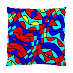 Colorful Bent Shapes 	standard Cushion Case (two Sides) by LalyLauraFLM