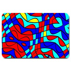 Colorful Bent Shapes 			large Doormat by LalyLauraFLM