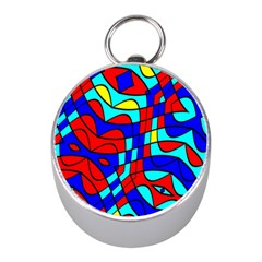 Colorful Bent Shapes 			silver Compass (mini) by LalyLauraFLM