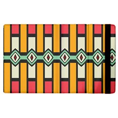 Rhombus And Stripes Pattern			apple Ipad 3/4 Flip Case by LalyLauraFLM