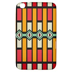 Rhombus And Stripes Pattern			samsung Galaxy Tab 3 (8 ) T3100 Hardshell Case by LalyLauraFLM