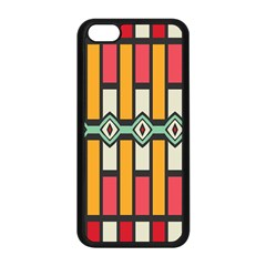 Rhombus And Stripes Pattern			apple Iphone 5c Seamless Case (black) by LalyLauraFLM