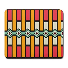 Rhombus And Stripes Pattern 			large Mousepad by LalyLauraFLM