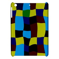 Distorted Squares In Retro Colors			apple Ipad Mini Hardshell Case by LalyLauraFLM