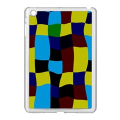 Distorted Squares In Retro Colors			apple Ipad Mini Case (white) by LalyLauraFLM