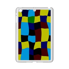 Distorted Squares In Retro Colors			apple Ipad Mini 2 Case (white) by LalyLauraFLM