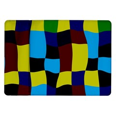 Distorted Squares In Retro Colors			samsung Galaxy Tab 10 1  P7500 Flip Case by LalyLauraFLM