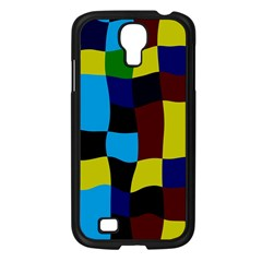 Distorted Squares In Retro Colors			samsung Galaxy S4 I9500/ I9505 Case (black) by LalyLauraFLM