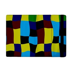 Distorted Squares In Retro Colors			apple Ipad Mini 2 Flip Case by LalyLauraFLM