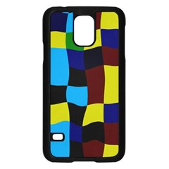 Distorted Squares In Retro Colors			samsung Galaxy S5 Case (black) by LalyLauraFLM